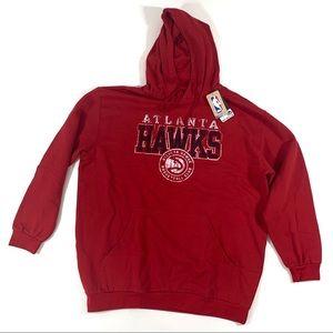 NBA Atlanta Hawks Mens 2XLT Red Sweatshirt